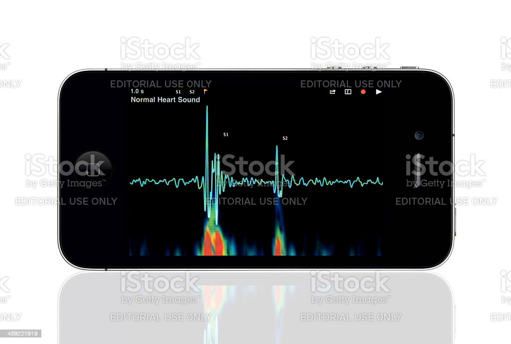 Apple iPhone 4 with Medical App Screen royalty-free stock photo