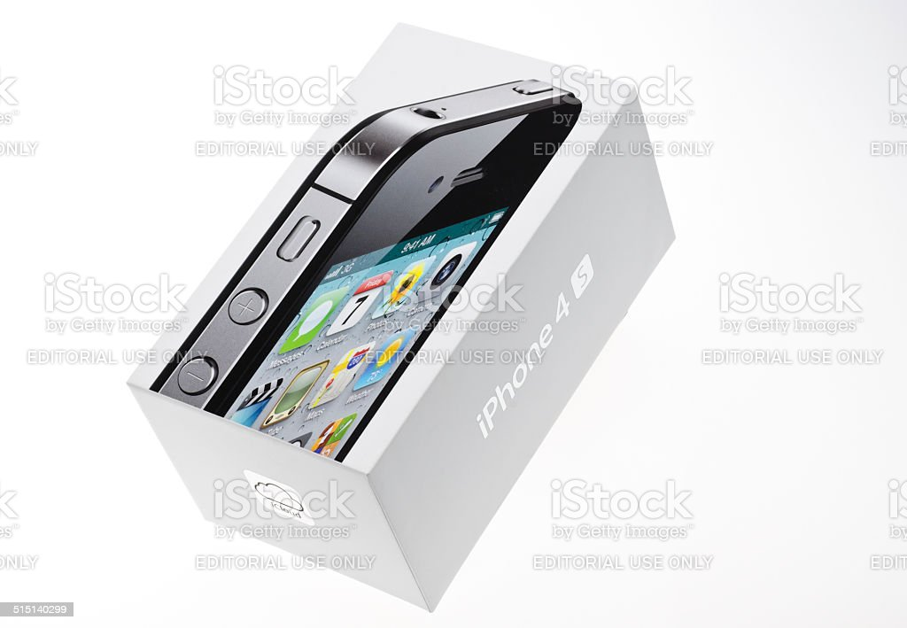 Apple Iphone 4s Box stock photo