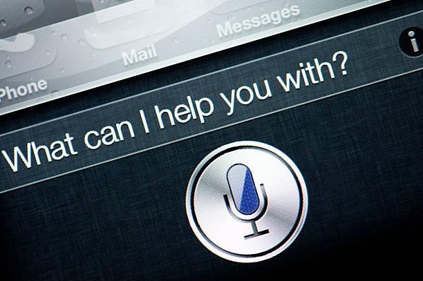 Apple iPhone 4S Siri stock photo