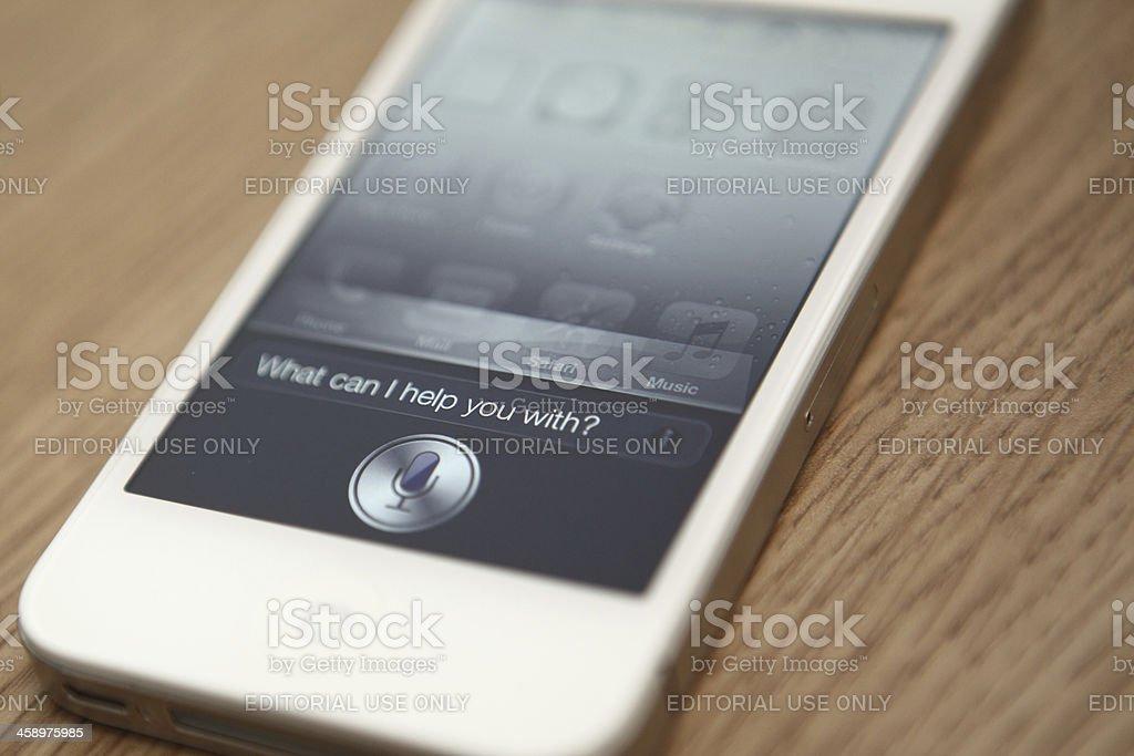 Apple iPhone 4S Siri royalty-free stock photo