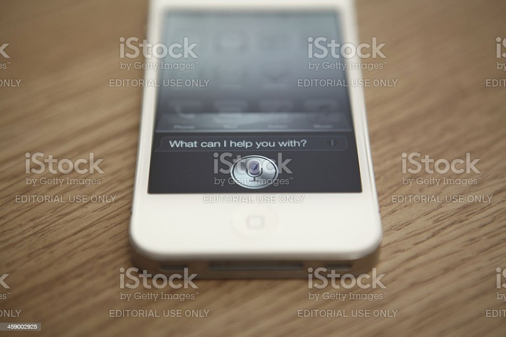 Apple iPhone 4S Siri royalty-free stock photo