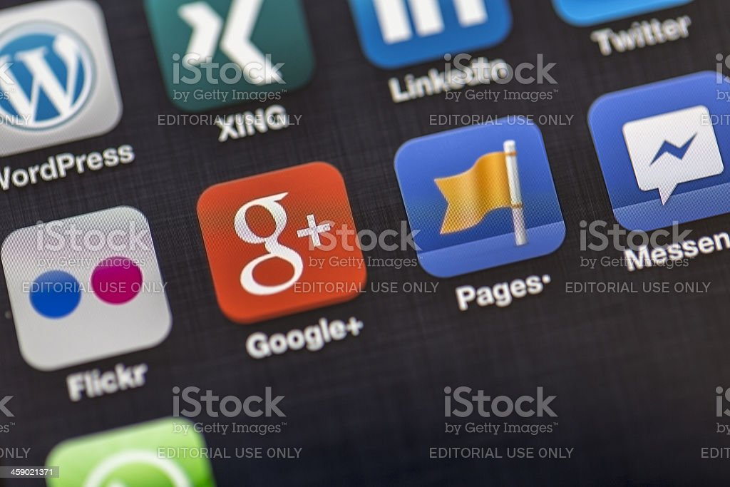 Apple iPhone 5, Close up on applications royalty-free stock photo