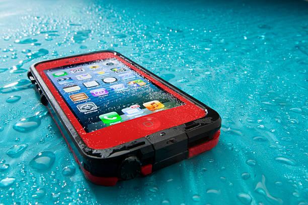 Apple iPhone 5 in Lifeproof Case stock photo