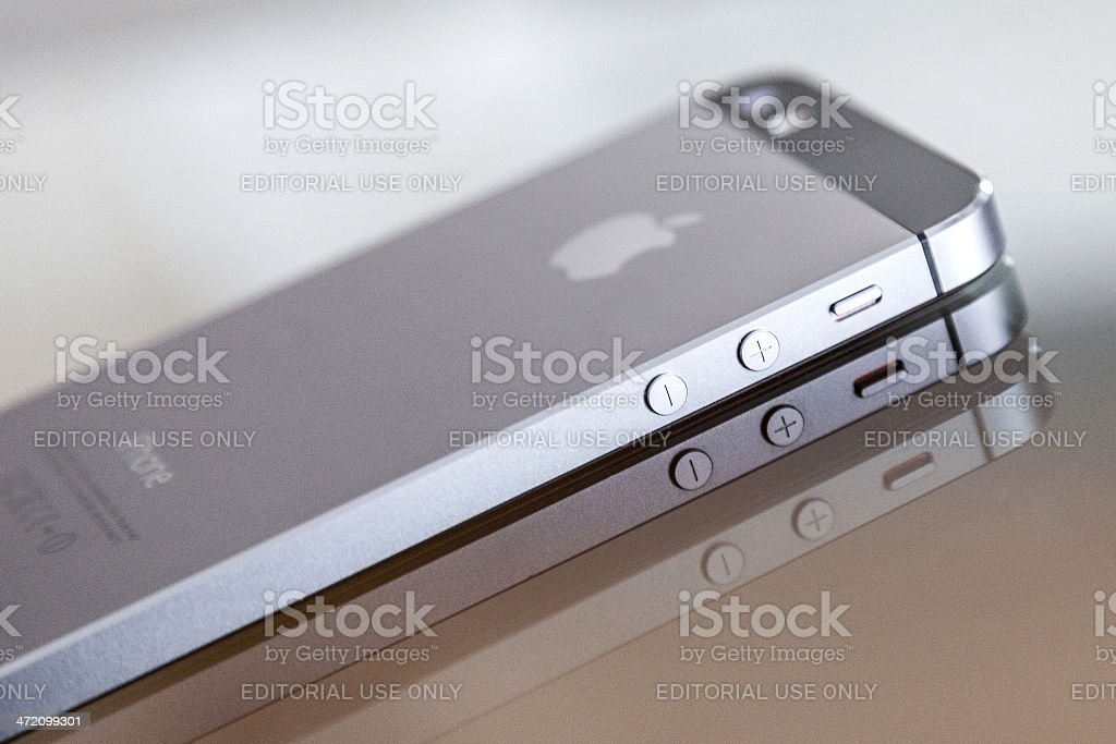 Apple iPhone 5s Backside stock photo