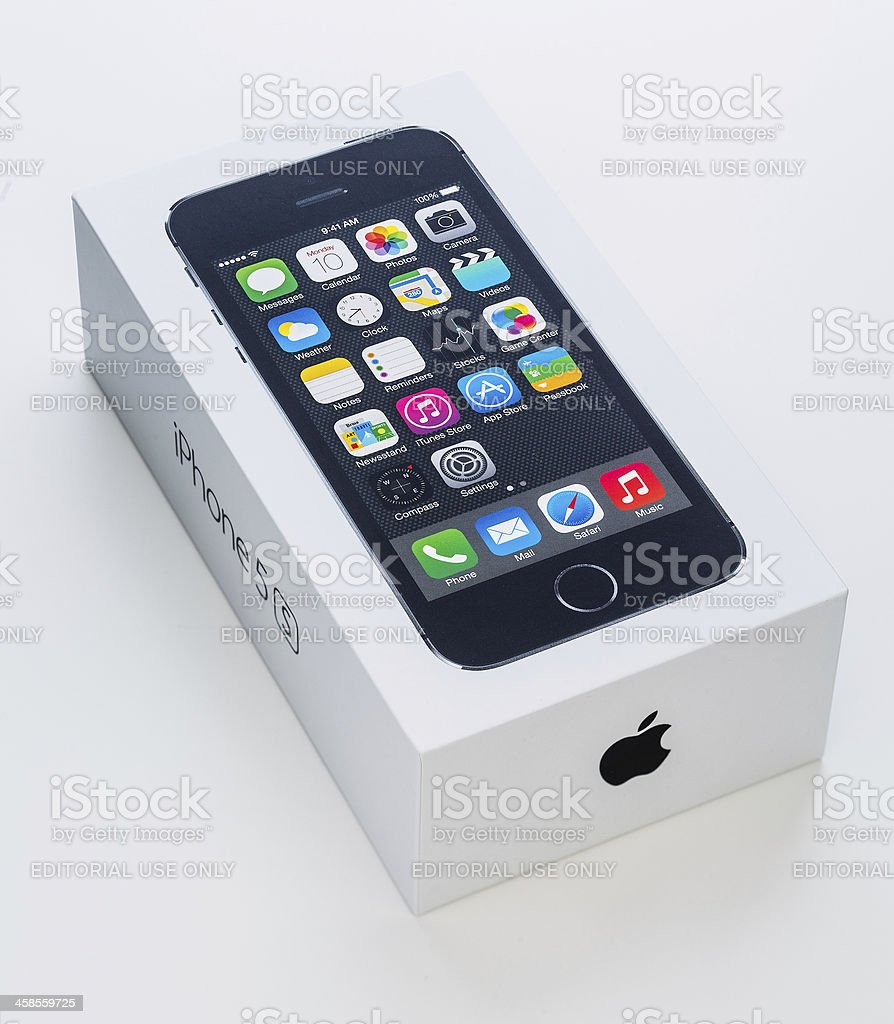 Apple iphone 5S packaging royalty-free stock photo