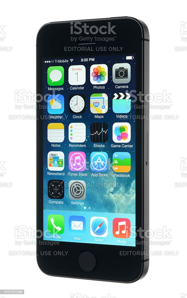 Apple iPhone 5s royalty-free stock photo