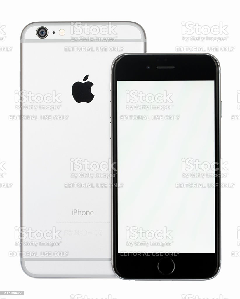 separation shoes 8870e f45c5 Apple Iphone 6 And 6 Plus Space Gray With Blank Screen Stock Photo ...