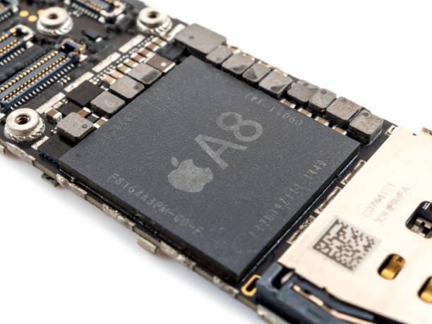 Apple iPhone 6 CPU IC chip stock photo