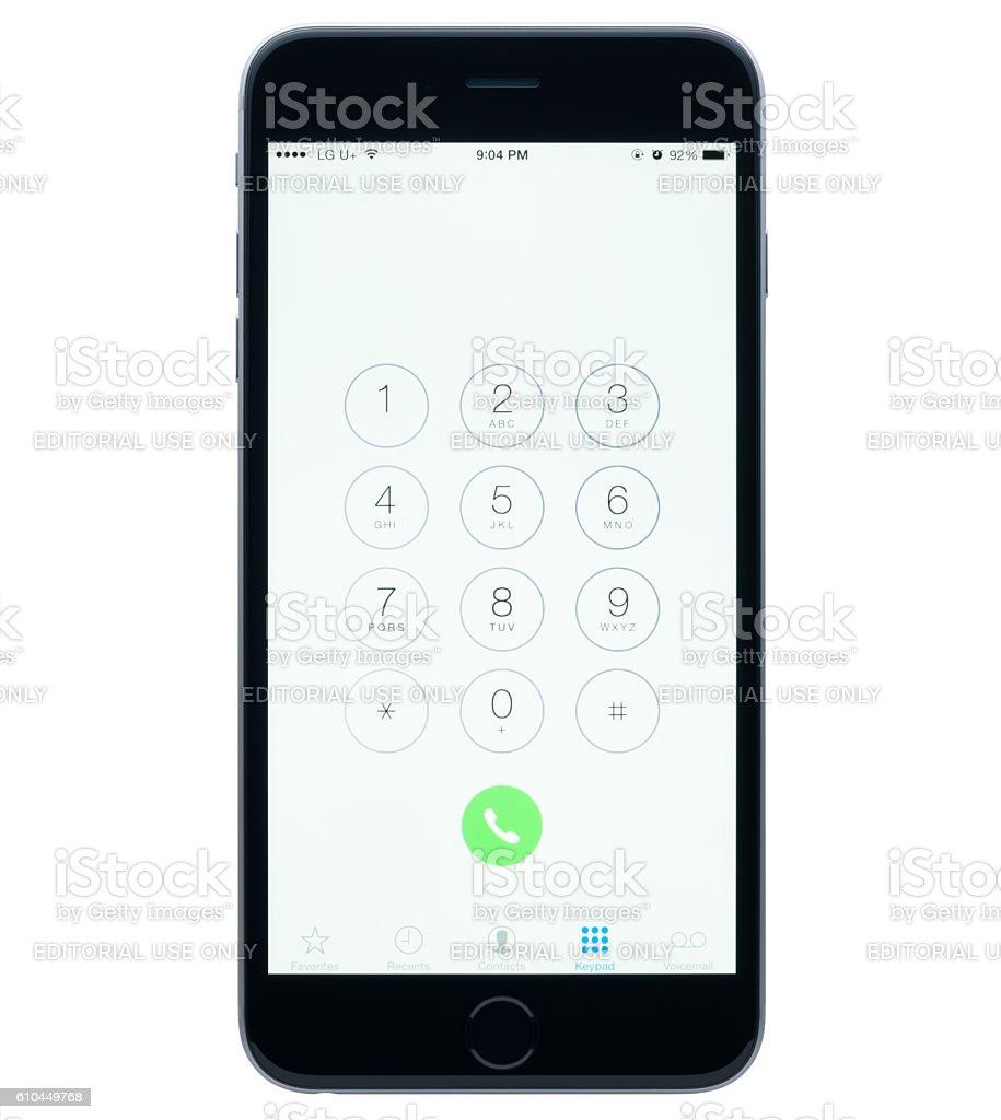 Apple iPhone 6 Dialer stock photo