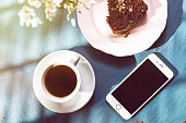 Istanbul, Turkey - April 8, 2015: Apple iPhone 6 on the table. iPhone is a touchscreen smartphone, developed by Apple Inc.