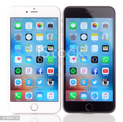 istock Apple iPhone 6 Plus black and white 519364140