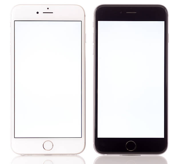 Apple iPhone 6 Plus Black and White stock photo