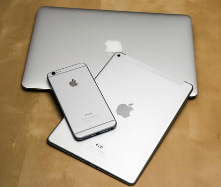 Apple iPhone 6 plus, iPad air 2 and MacBook Air