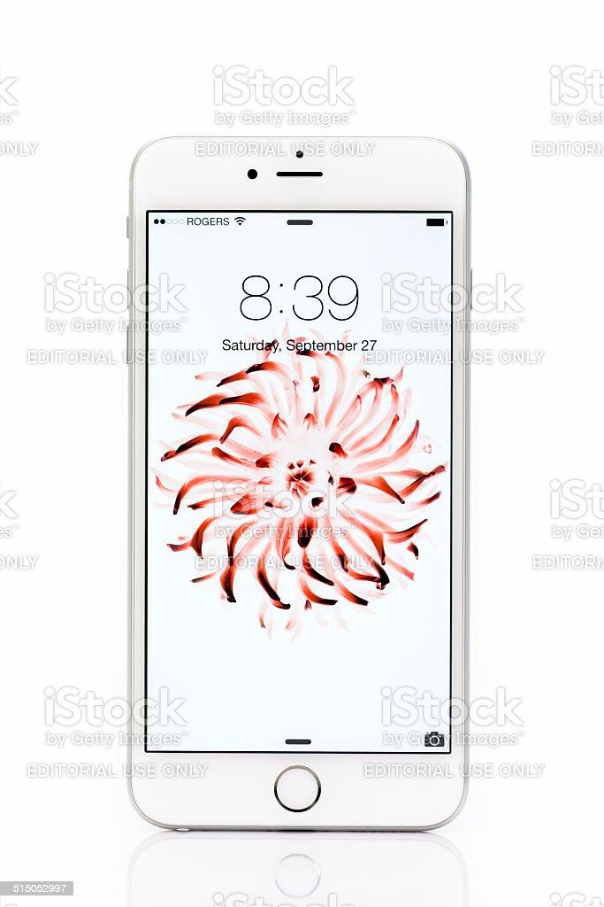 Apple Iphone 6 Plus Bloccato Schermo Isolato Su Sfondo Bianco