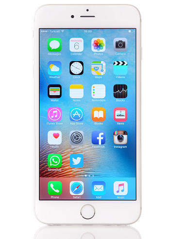 istock Apple iPhone 6 Plus on white background 519362920