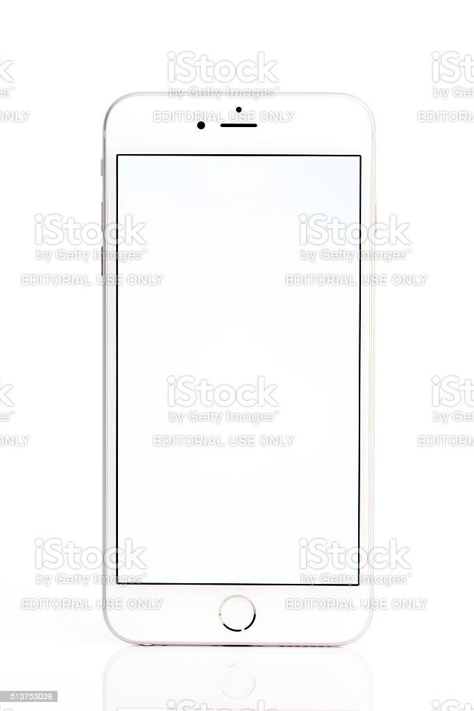 Apple Iphone 6 Con Schermo Bianco Isolato Su Sfondo Bianco