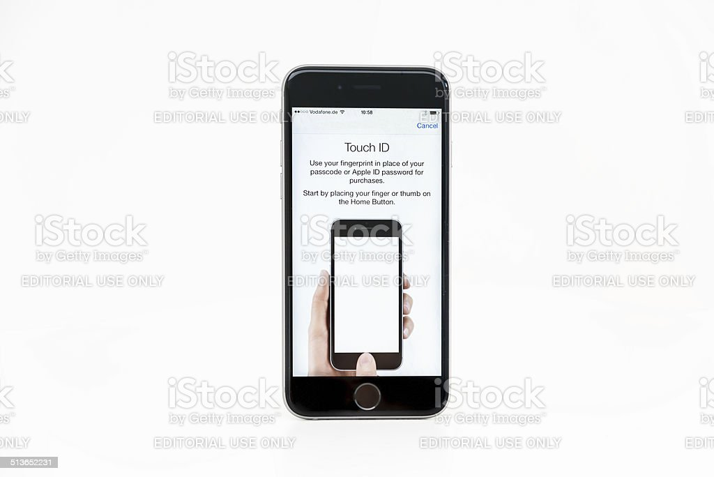 The new Apple iPhone 6 Space Grey Version, Apples newest version 6 of...