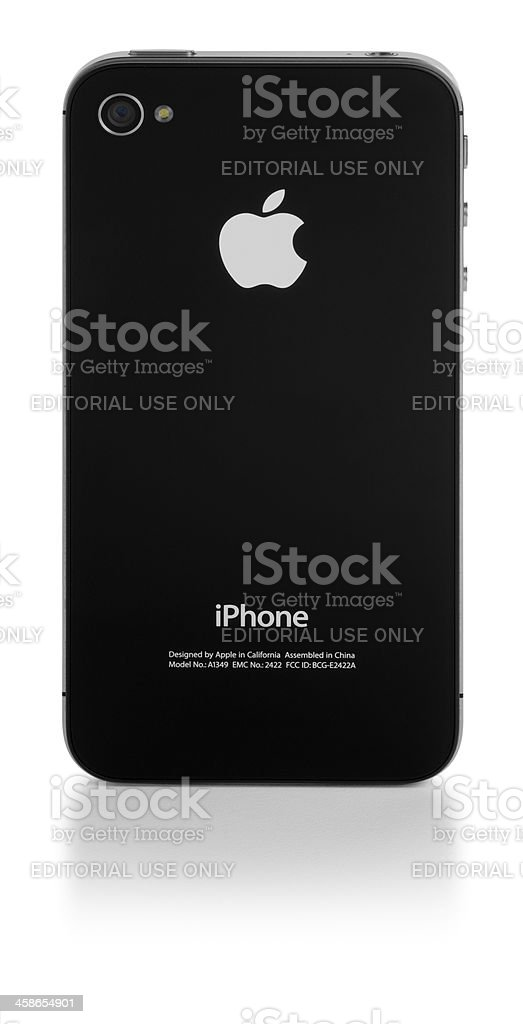 Apple iPhone Back View royalty-free stock photo