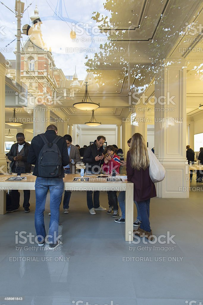 Apple iPhone launch day in Amsterdam royalty-free stock photo