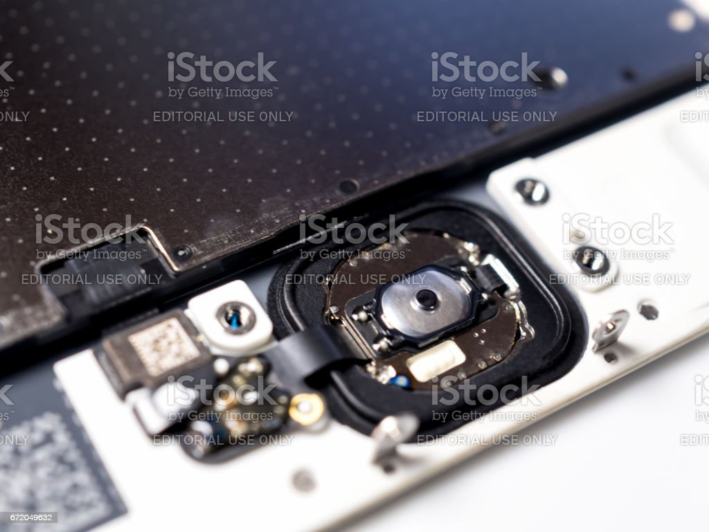 April 8, 2017 - Close-up image of backside of Apple iPhone 6, 6 Plus,...