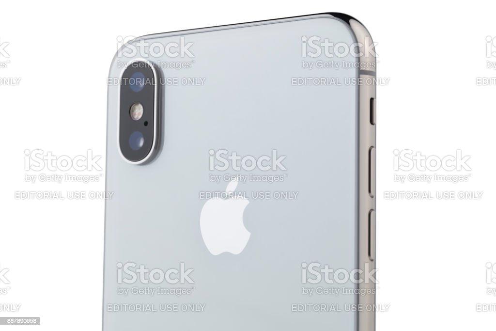 Apple iPhone X 10 Rear Dual Camera stock photo