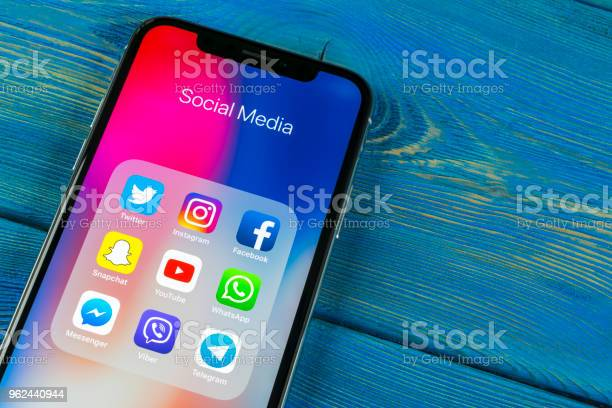 Apple iphone x on office desk with icons of social media facebook picture id962440944?b=1&k=6&m=962440944&s=612x612&h=fblngabzt67qtu6qzclmkszuxfirtqaxvfpcbnor14w=