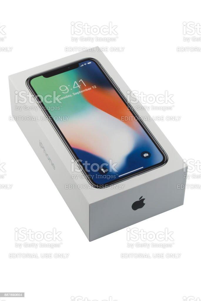 Apple Iphone Xretailboxenverpackung Stock-Fotografie und mehr Bilder ...