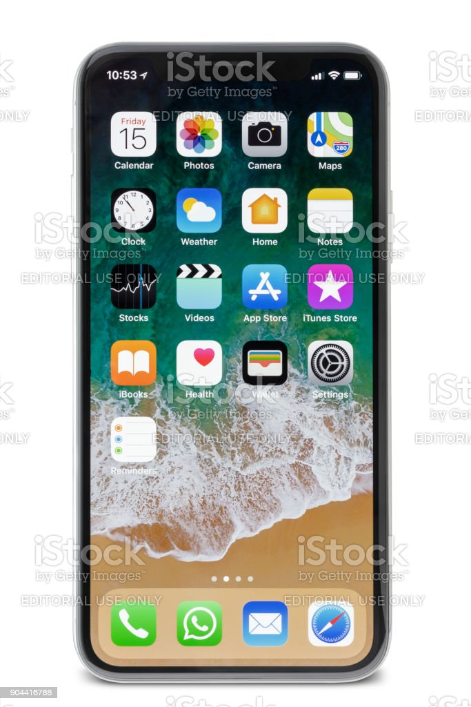Apple iPhone X Silver Screen Accueil - Photo