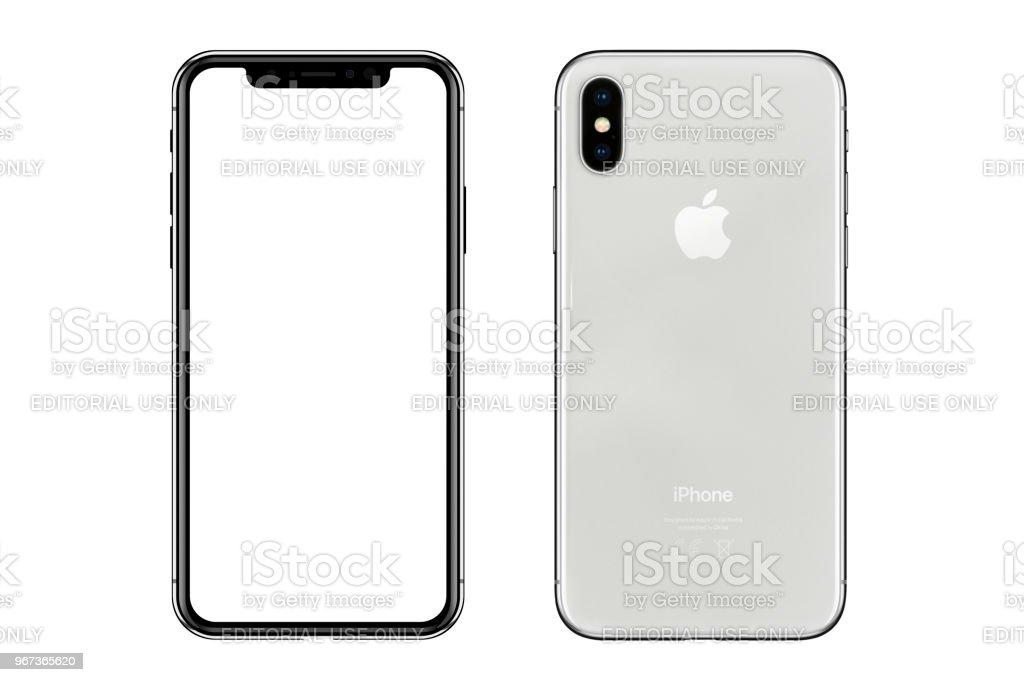 Apple iPhone X weiße leere Leinwand und Rückansicht – Foto