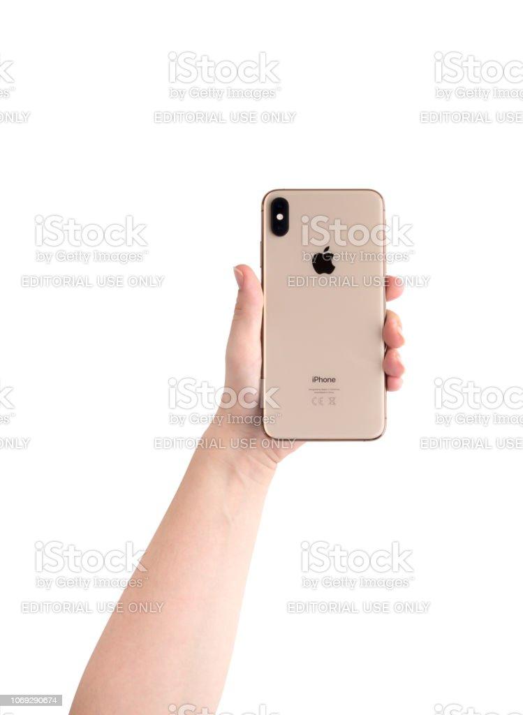 foto de Photo libre de droit de Apple Iphone Écran 65 Pouces Xs Max En ...