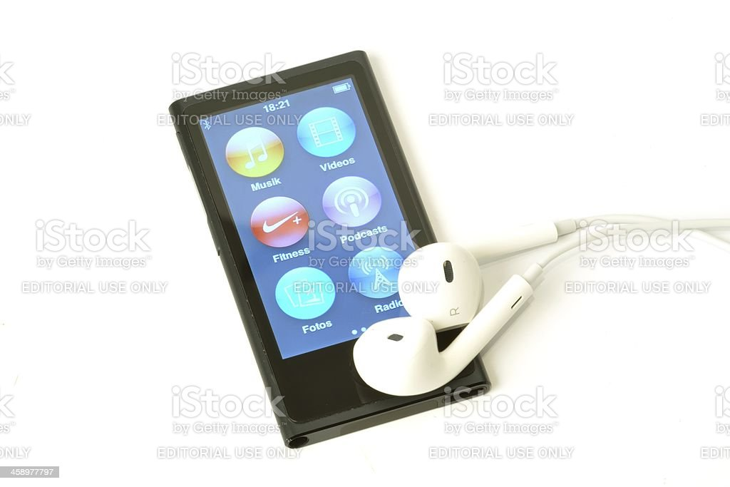 Apple ipod nano royalty-free stock photo