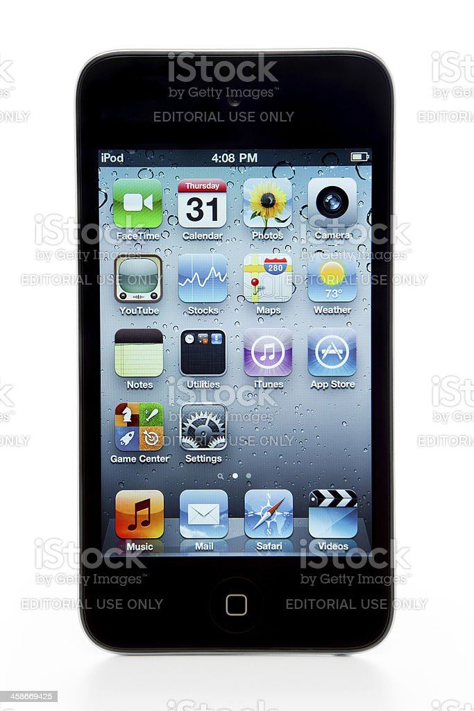 Apple Ipod Touch 4th Generation royalty-free stock photo