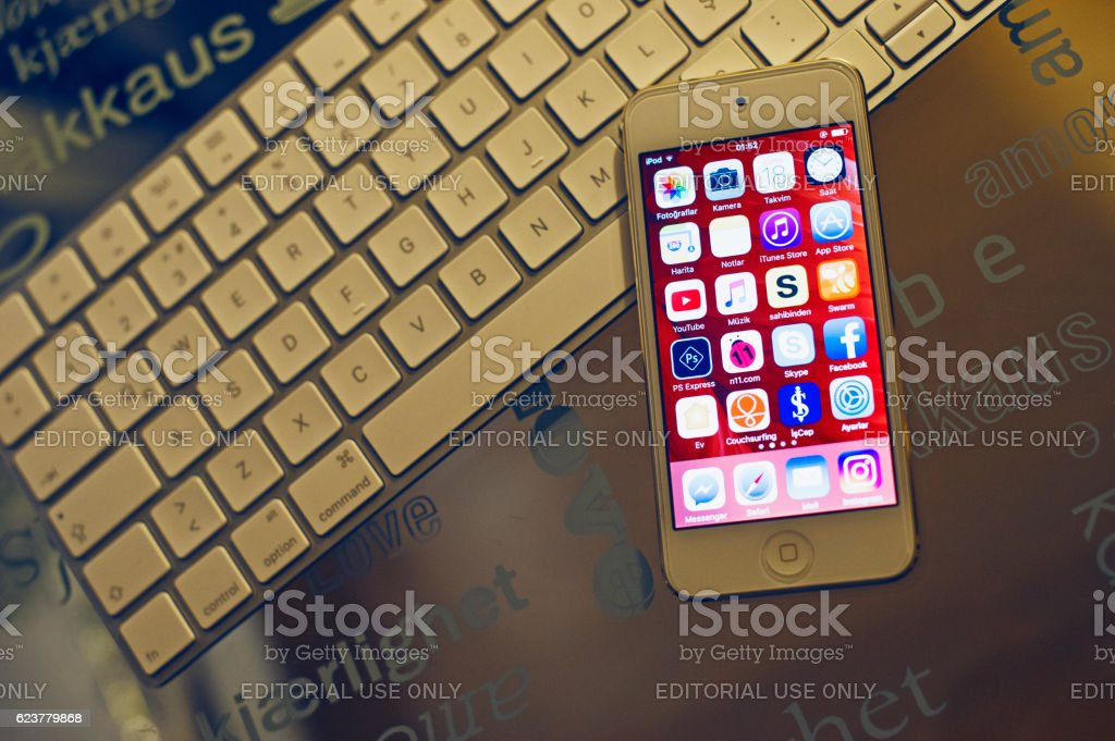 Apple Ipod Touch & Imac Keyboard stock photo