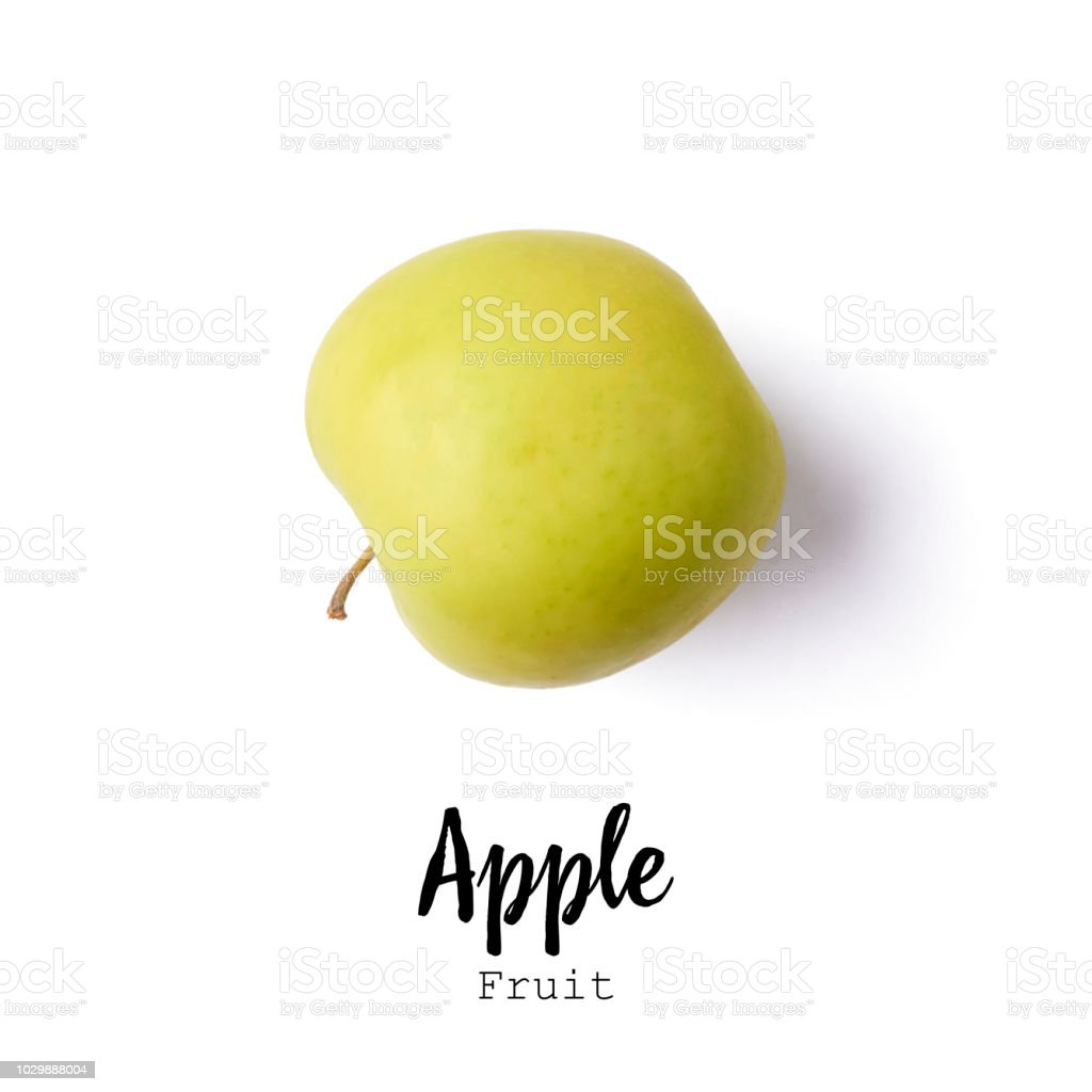apple isolated on white bacground stock photo