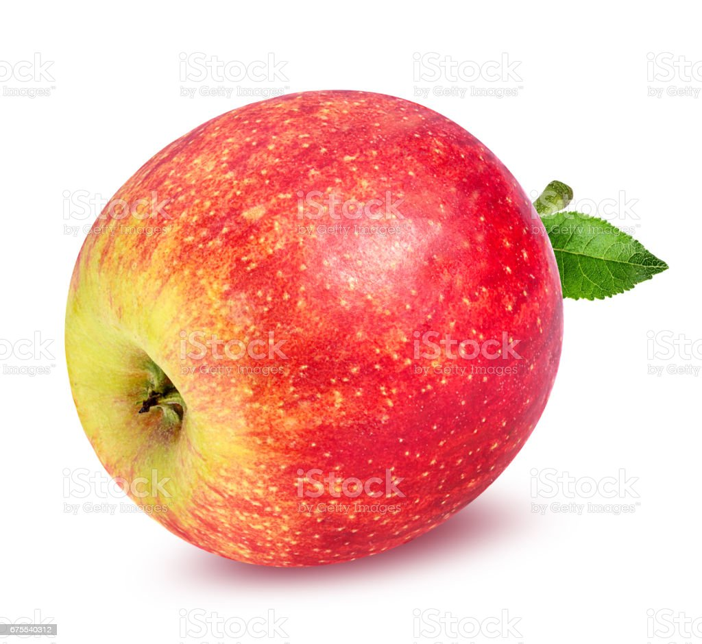 beyaz izole elma royalty-free stock photo