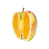 apple or orange isolated on white background