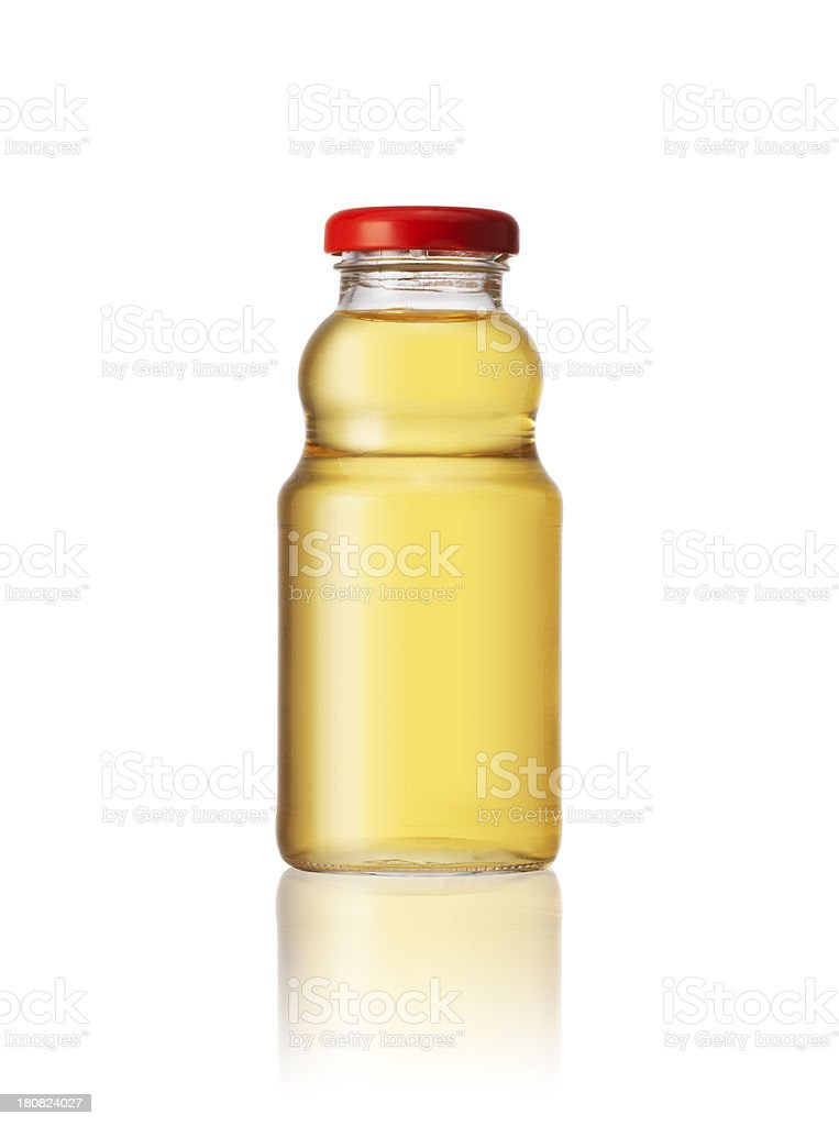 Apple Juice Bottle stock photo