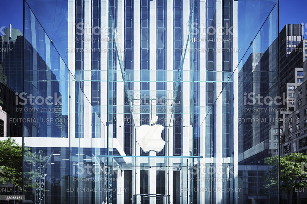 Apple Logo, New York stock photo