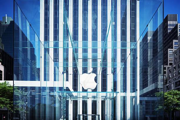 Apple Logo, New York stock photo