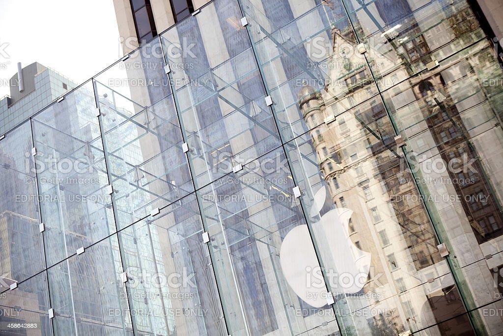 Apple logo on Fifth Avenue royalty-free stock photo