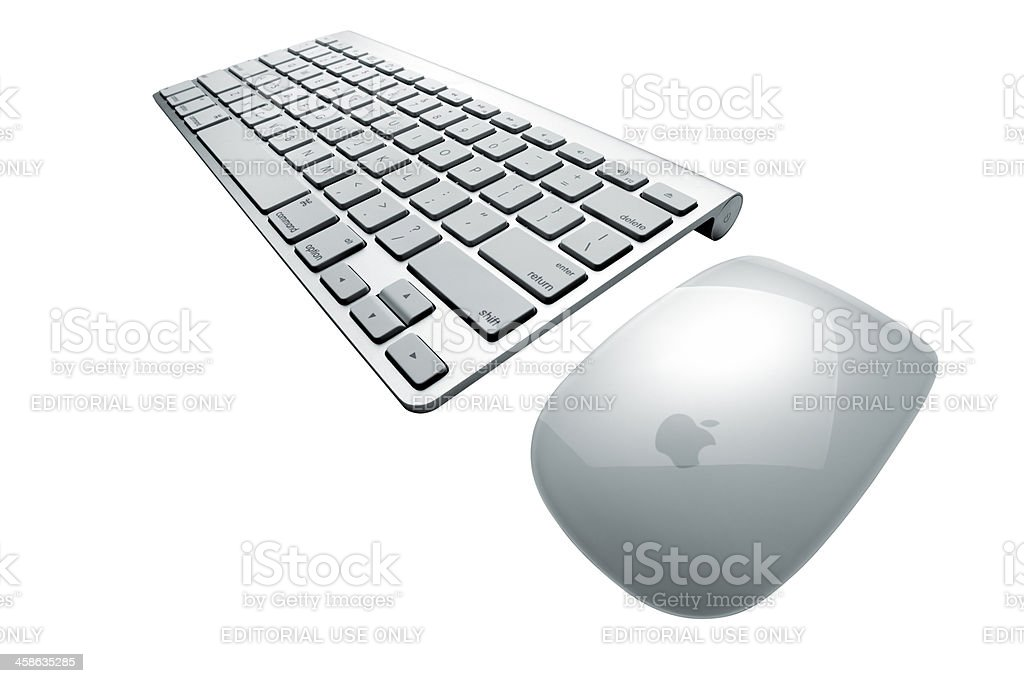 Apple Mac Bluetooth Keyboard and Mouse royalty-free stock photo