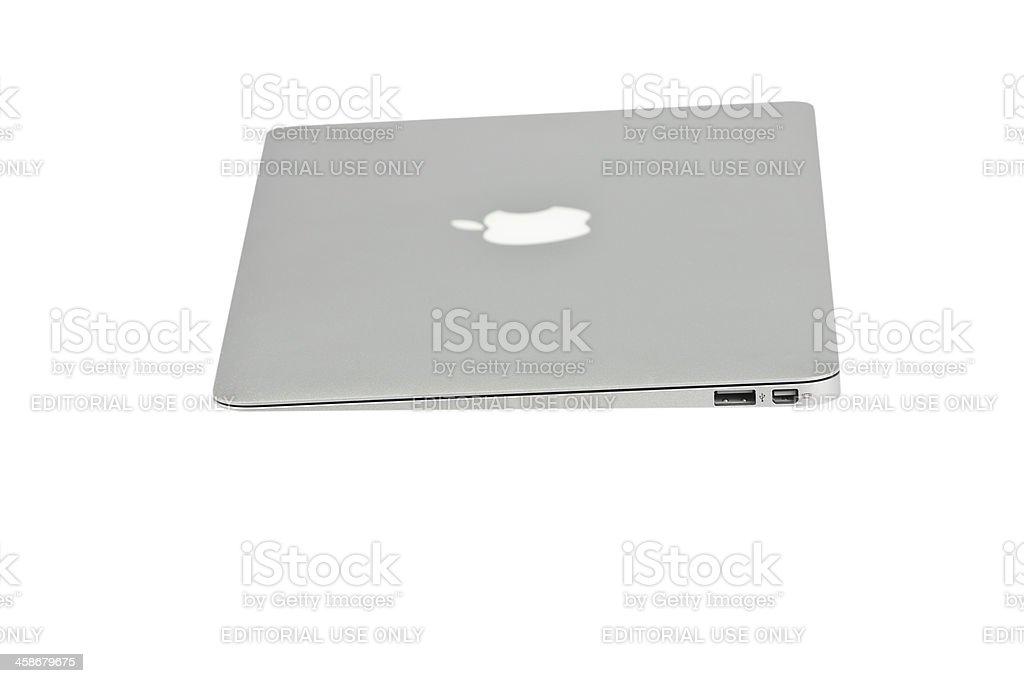 Apple MacBook Air slim laptop stock photo