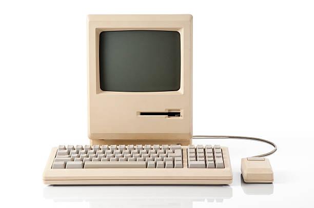 apple macintosh klassischen computer - retro und vintage stock-fotos und bilder