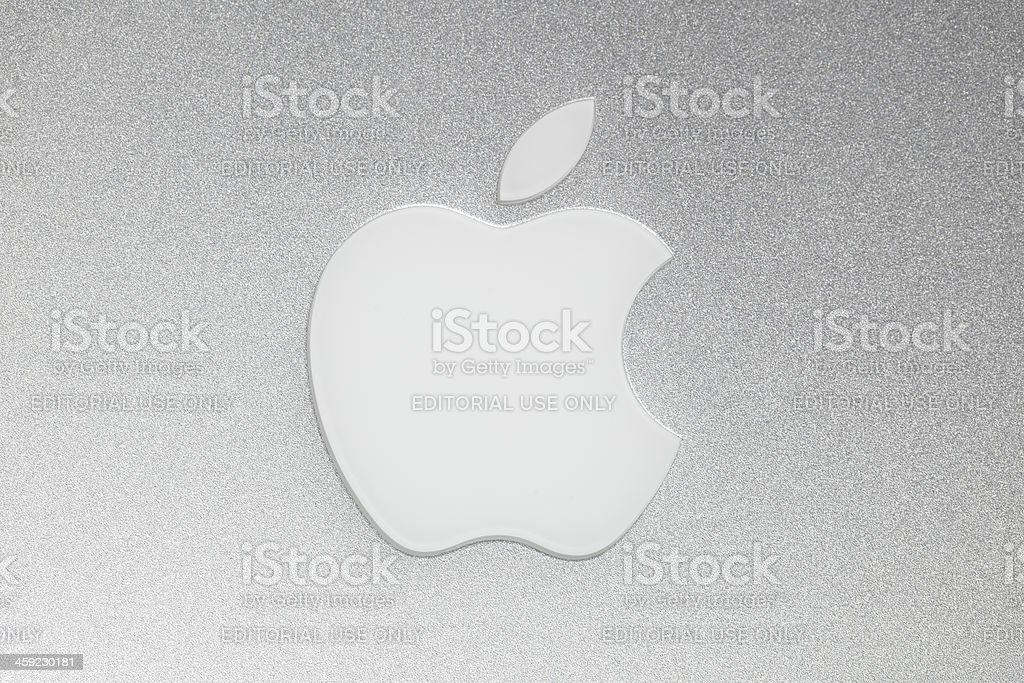 Apple Macintosh logo stock photo
