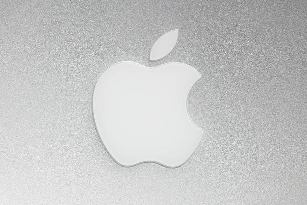 apple macintosh logo - logo stock photos and pictures