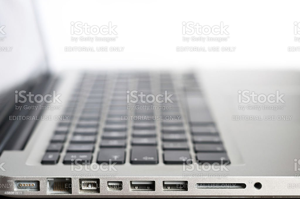 Apple Macintosh MacBook Pro 13' Laptop Computer royalty-free stock photo