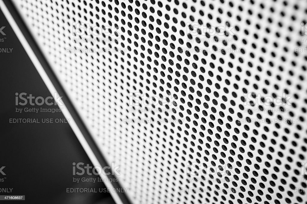 Apple Macintosh Modern Mac Pro Grey Computer Macro Texture royalty-free stock photo