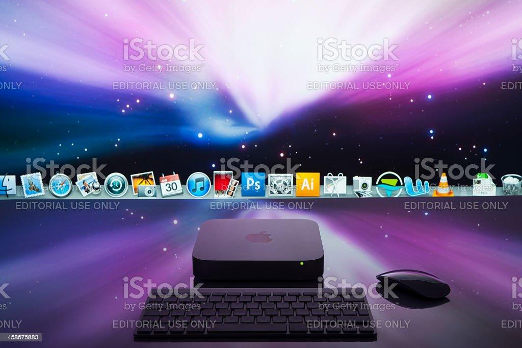 Apple MacMini royalty-free stock photo