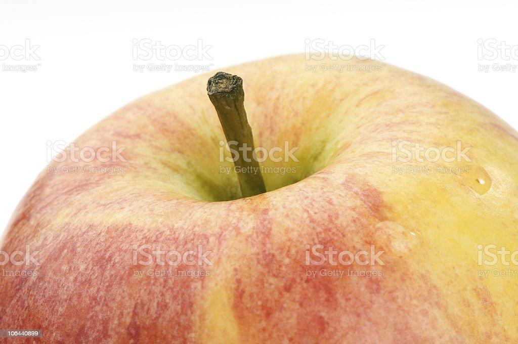 apple macro shot royalty-free stock photo
