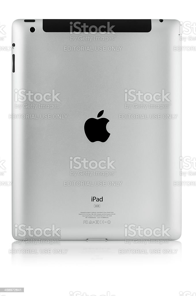 Apple New iPad - rear view royalty-free stock photo